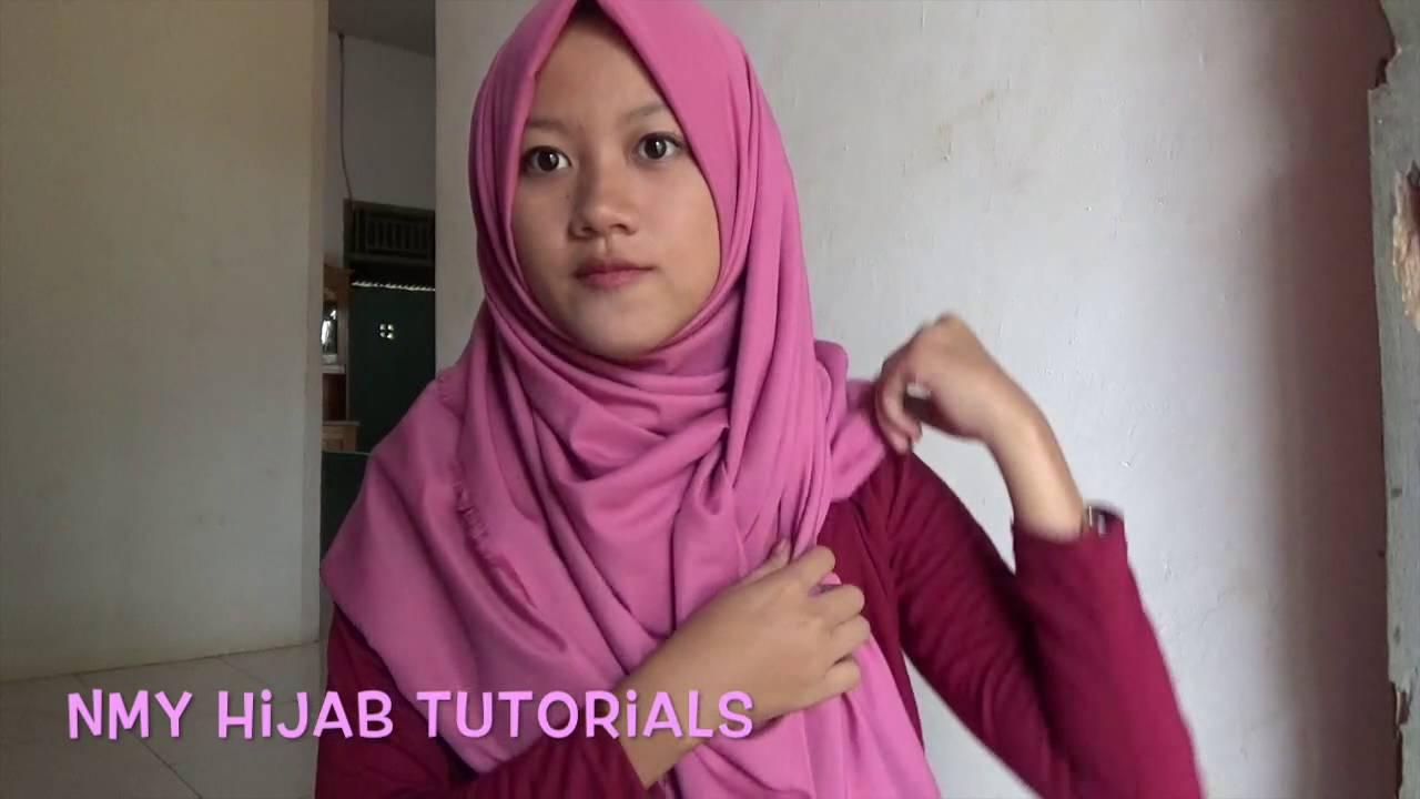 Tutorial Hijab Pashmina Sehari Hari Tanpa NinjaCiput Sederhana