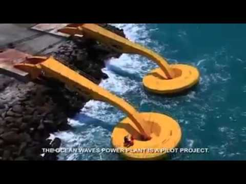 Generating electrical energy from sea waves