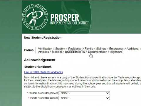 Student Registration / Student Registration Information
