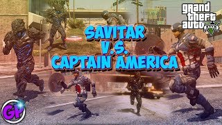 GTA 5 PC Mods - SAVITAR V.S. CAPTAIN AMERICA!! (GTA 5 Mod Gameplay) The Flash Mod V2.0