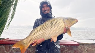 Трофейний короп на дикому озері в Тернополі