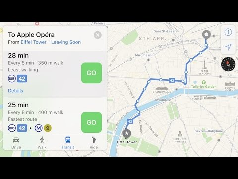 Apple Maps gets transit options for Paris