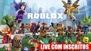 NOW ROBLOX WITH SUBSCRIBERS-LIVE GAMES #46