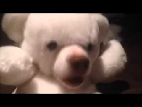 Look at this Teddy Bear EATING!!!