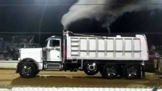 peterbilt dump truck sled pull @ the buck 8/18/12