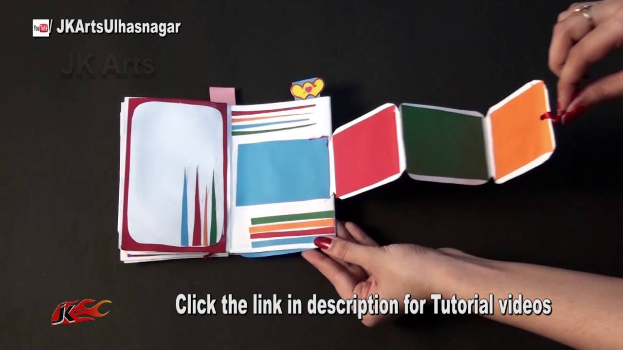 How to scrapbook birthday cards - Diy Love Scrapbook Greeting Card Idea Jk Craft Ideas 081