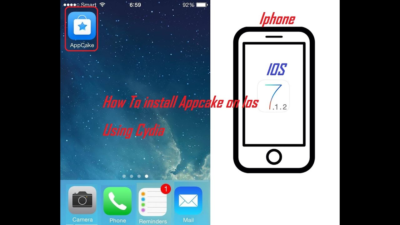 how to install appcake on iphone 5