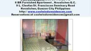 6 BR Fully Furnished Apartment For Rent in Novaliches Quezon City Philippines