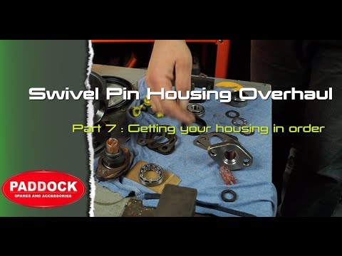 Swivel pin housing overhaul Part 7 - fitting ball to axle / fitting bearings