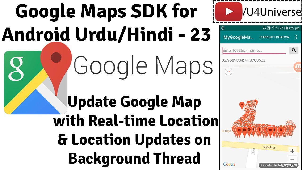 Google Maps For Android 23 Update Google Map In Real Time