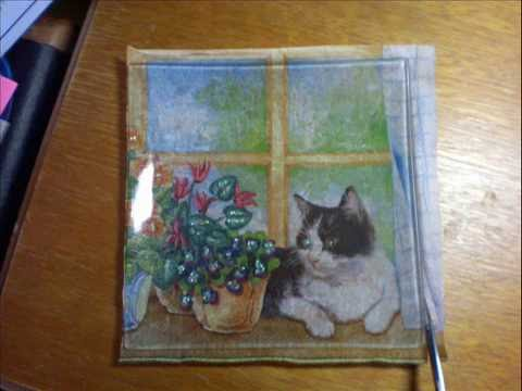 How To Do Serviette Decoupage On Glass Plates Youtube