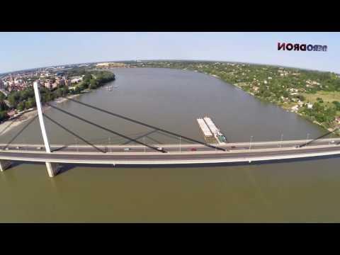 Novosadski most Slobode / Serbia / Freedom Bridge in Novi Sad * Snimanje iz vazduha !