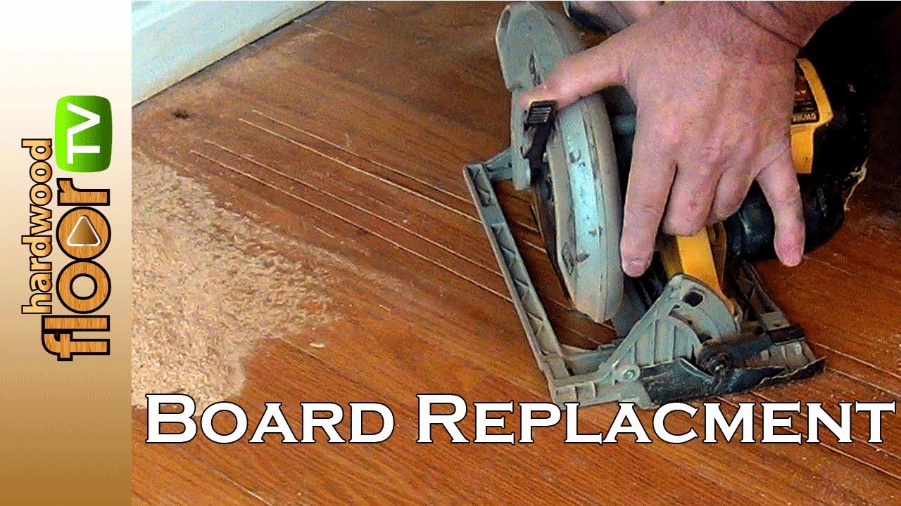 Replace Hardwood Floor Board