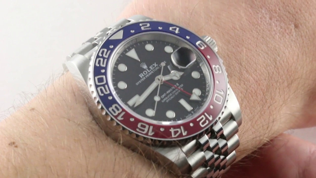 2018 Rolex GMT,Master II \u201cPEPSI\u201d 126710BLRO Luxury Watch Review