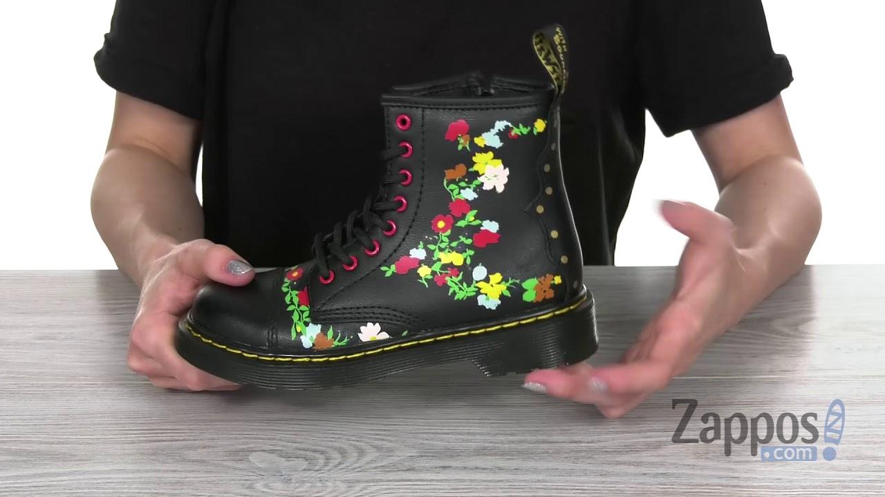 Dr. Martens Kid's Collection 1460 Pooch Flower (Little KidBig Kid) SKU: 9067929