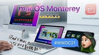 macOS Monterey アップデートまとめ!iPadとMacをつなげる新機能とは?!👀 #WWDC21