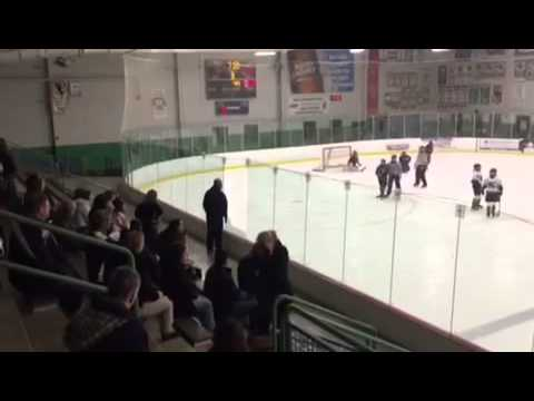 Angry Hockey Dad Breaks Glass At Kid's Game