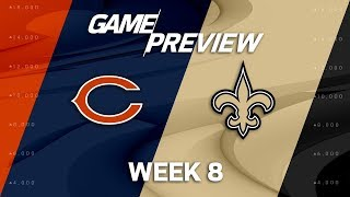 Chicago Bears vs. New Orleans Saints | Week 8 Game Preview | NFL Playbook