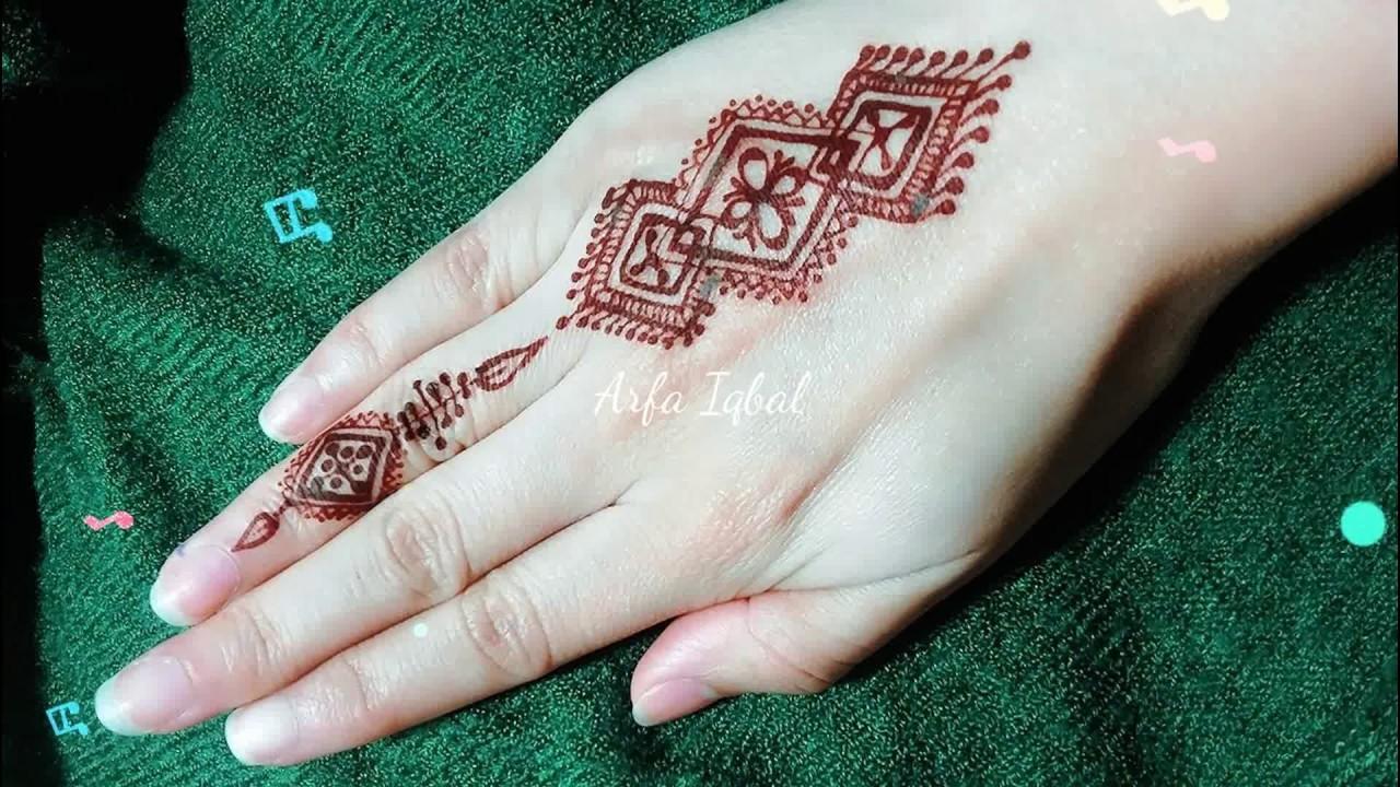 Mehndi Fingers Rating : Diy easy mehendi design for fingers tutorial henna temporary