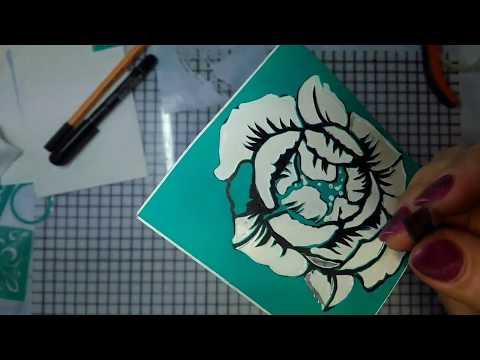 Трафареты цветов для открыток своими руками