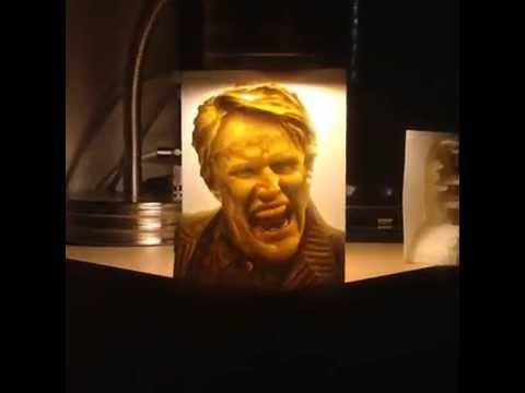 amazing 3d printed 3d lithophane of gary busey youtube. Black Bedroom Furniture Sets. Home Design Ideas