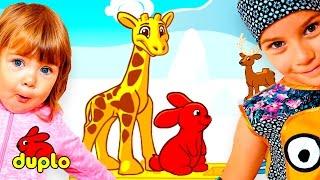 ЛЕГО ДУПЛО ЖИВОТНЫЕ игра мультфильм для детей развивающие мультфильмы про животных игры лего