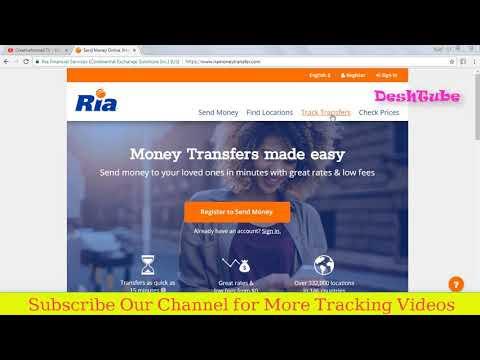 Ria Tracking Money Transfer Track