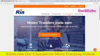 International Money transfer tracking | RIA Money Tracking