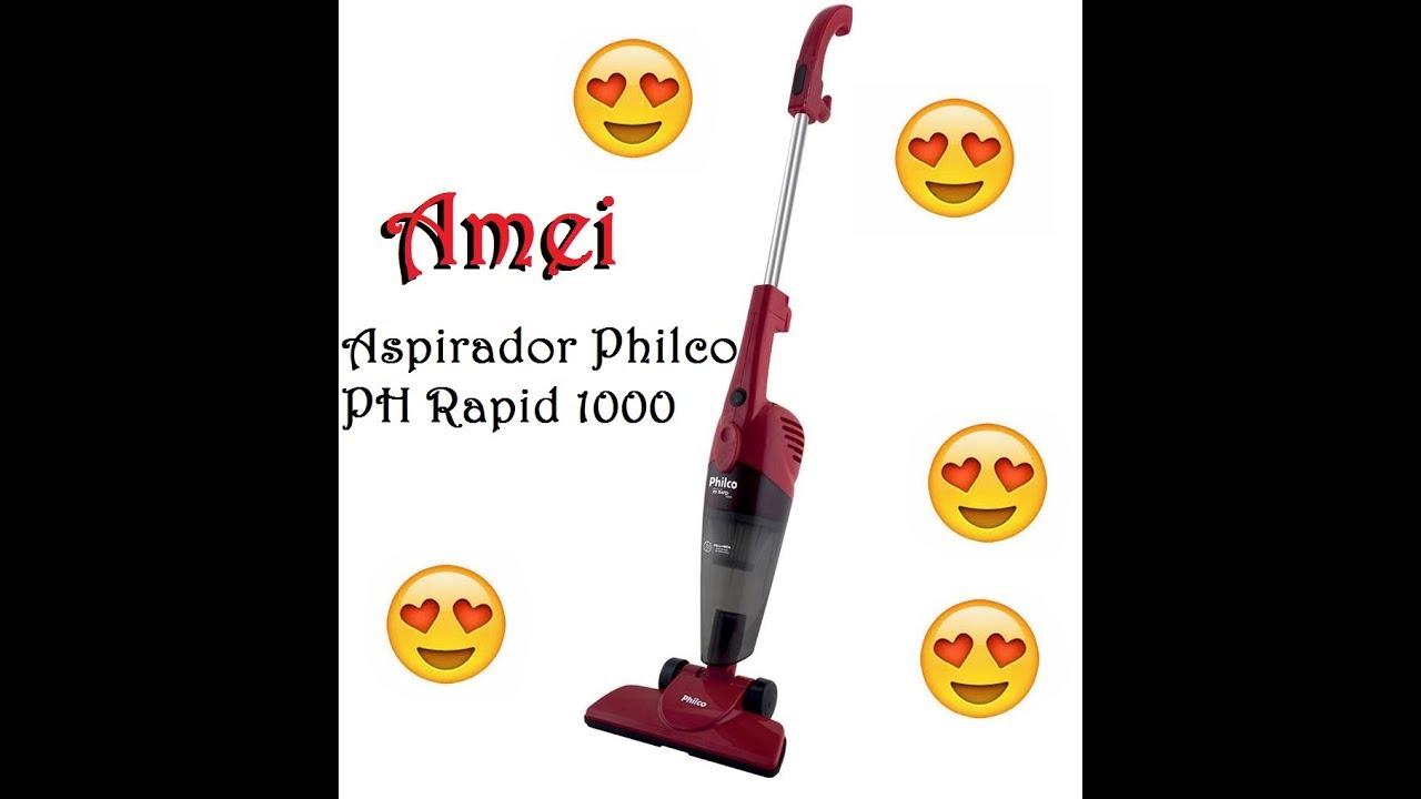 9fb83891b Aspirador de Pó Philco PH Rapid 1000 N com 1000W de Potência - Vermelho  FUNCIONA  Parte 1