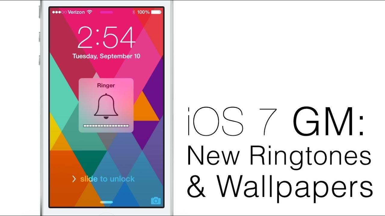 Hands-On iOS 7 GM: New Ringtones, Alert Tones, Sounds And Wallpapers
