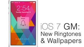 Hands-On iOS 7 GM: New Ringtones, Alert Tones, Sounds And Wallpapers