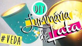 DIY/FAÇA VOCÊ MESMO: LUMINÁRIA FEITA COM LATA | VEDA #2 - O Blog da Ka ♥