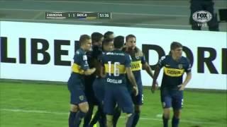 Zamora 1 - Boca Jrs 1 Gol Juan Manuel Martínez/ Copa Libertadores 2015