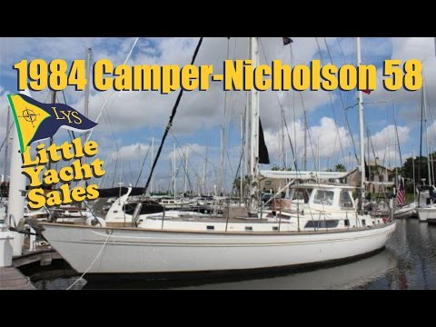 1984 Camper-Nicholsons 58′ Sailboat for sale at Little Yacht Sales, Kemah Texas