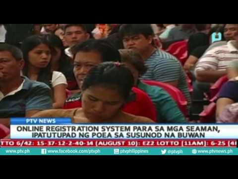 Online registration system para sa mga seaman, ipatutupad ng POEA sa susunod na buwan