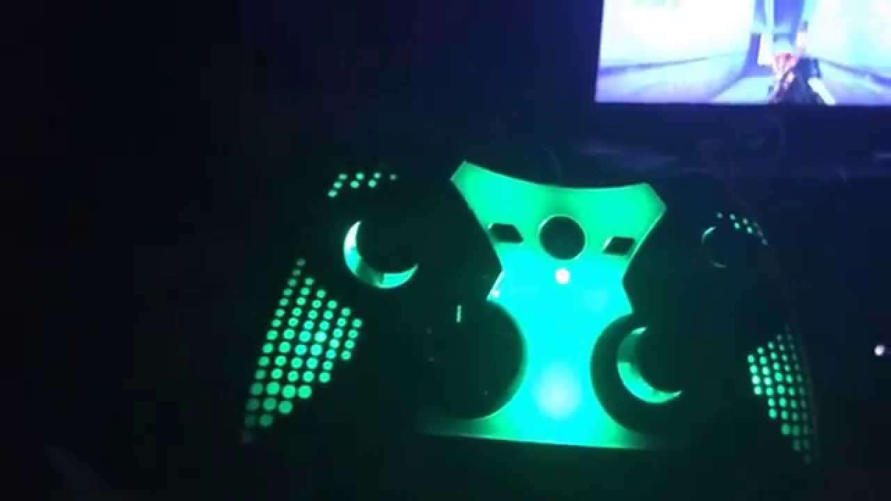 Led Xbox one controller changes color - YouTube
