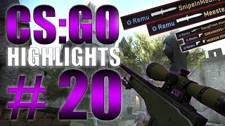 DOUBLE KNIFE, INSANE CLUTCHES & MORE (CS:GO - Highlights #20)