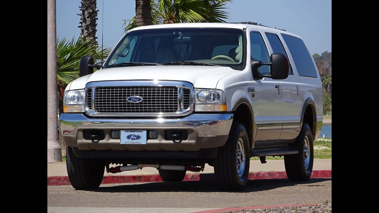 2002 ford excursion limited white 4x4 7 3l diesel 1 owner 206k miles for sale walk around youtube 2002 ford excursion limited white 4x4 7 3l diesel 1 owner 206k miles for sale walk around