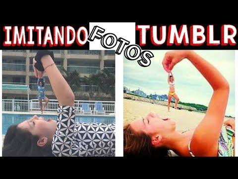 IMITANDO FOTOS TUMBLR NA PISCINA - Muita Diversão !!!