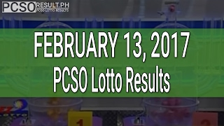 PCSO Lotto Results February 13, 2017 (6/55, 6/45, 4D, Swertres & EZ2)