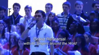 "Grand Rehearsal 3 - Indonesian Team Leads : ""We Are The World"" July 2010 (Music Video by Agus)"