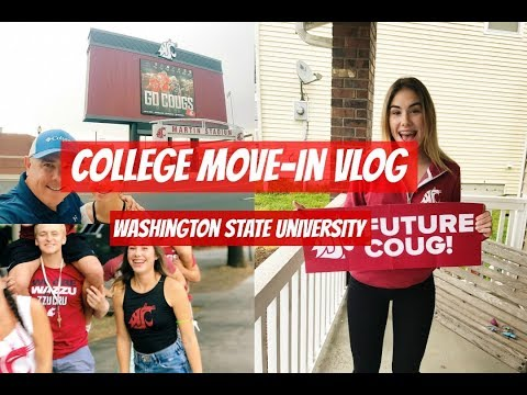 COLLEGE FRESHMEN MOVE-IN VLOG | Washington State University