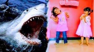 Baby Shark Doo Doo 😍 | Dance of Anaya and Aliza with Toys. #Fun#smile#diana#cartoon#games
