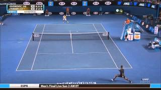 Djokovic vs. Ferrer - Australian open 2013 SF. Highlights (HD)
