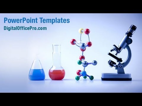 Laboratory Equipment PowerPoint Template Backgrounds – Chemistry Powerpoint Template