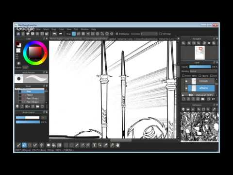 Drawing comic