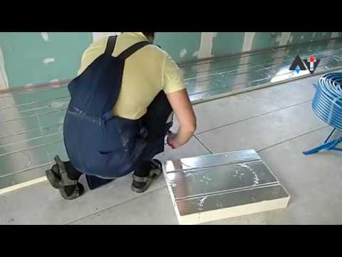 Монтаж водяного теплого пола без стяжки АТ