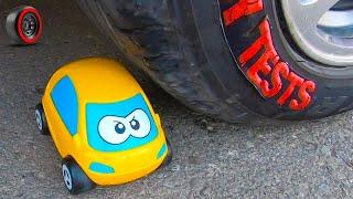 Crushing Crunchy & Soft Things by Car! - EXPERIMENT: All vs Car