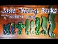 Tuning Fork Jade Carving - Robert Long of Gorge River