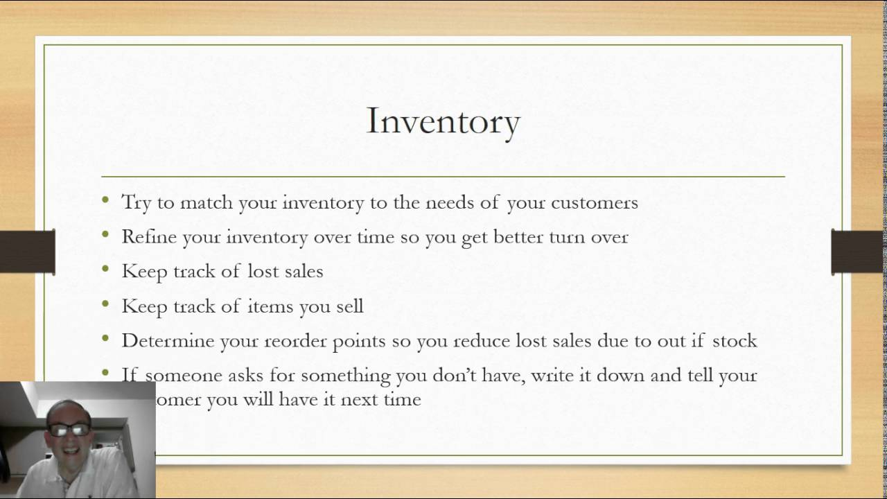 sample convenience store inventory list